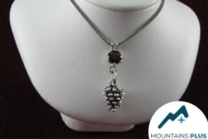 Mountain Plus. A handmade necklace on a bust