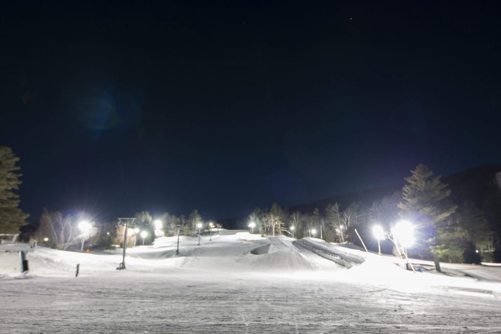 The Ski Bowl at Night