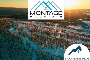 Montage Mountain Logo and scenic image