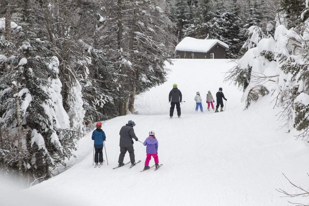 Families Skiing