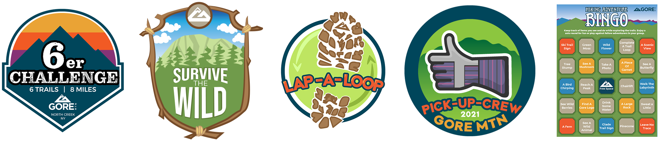A Bunch Of Hiking Challenge logos
