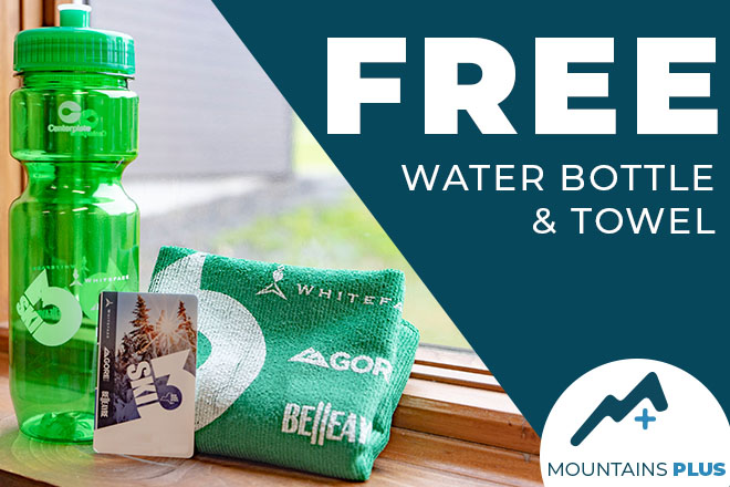 Free water bottle and Towel