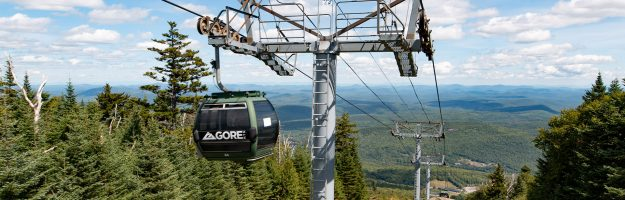 Gondola skyride and scenic Adirondack view