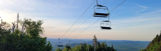 Scenic skyride in the summer beautiful views