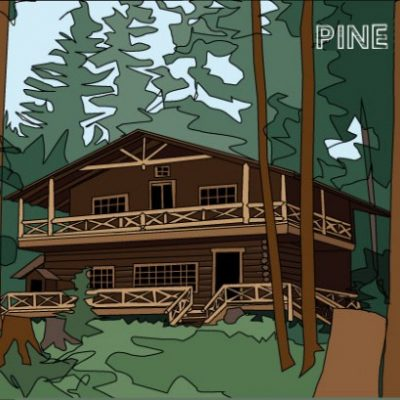 Great Camp Illustration Pine Knot